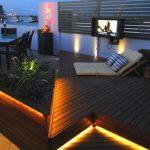 Strip Lighting in Outdoor Area