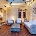Outdoor Room with outdoor lighting