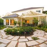 Scattered Paving Landscaped Backyard
