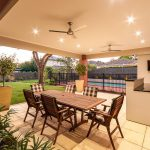 Outdoor Room and Landscaped Backyard