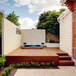 Decking around outdoor spa